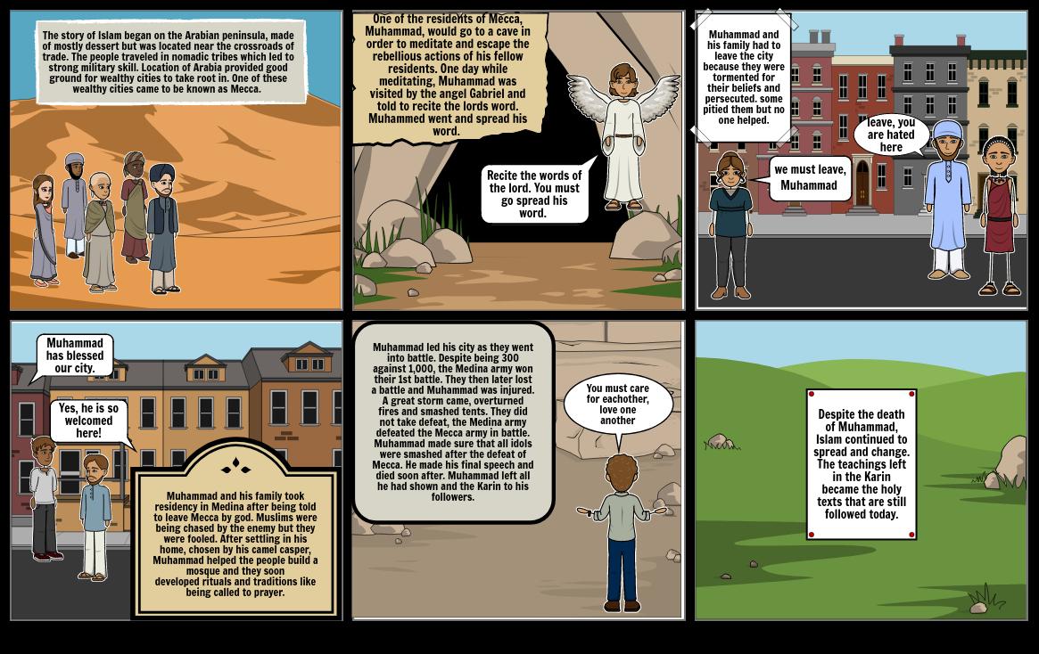 Katy Herrmann story of Islam storyboard