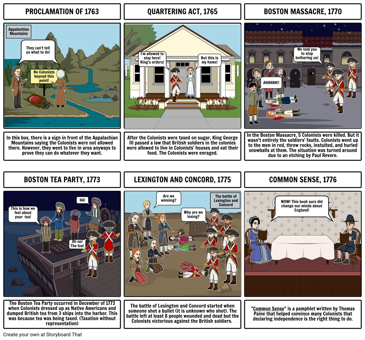 comic strip - us history