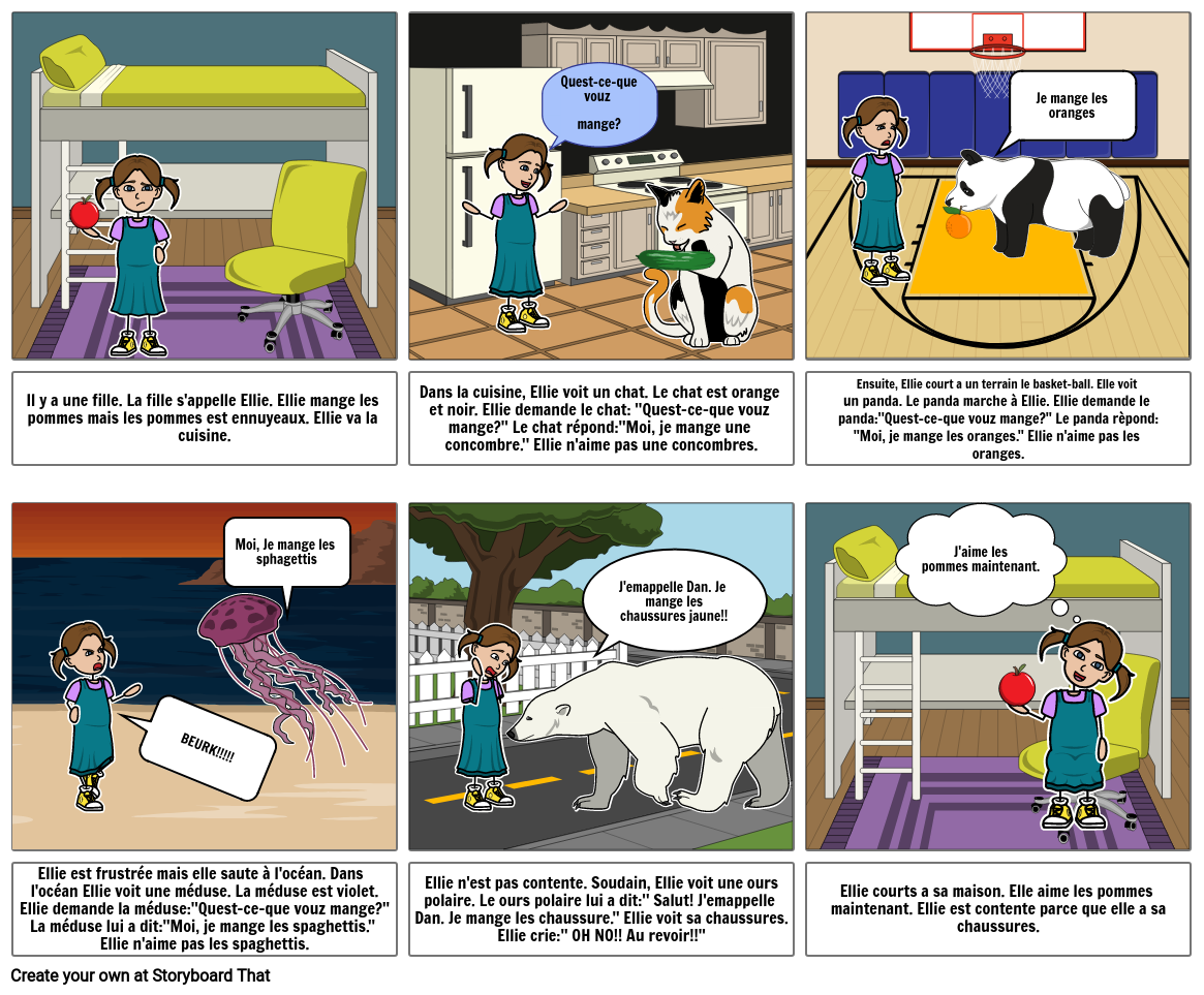 French Storyboard Keira F
