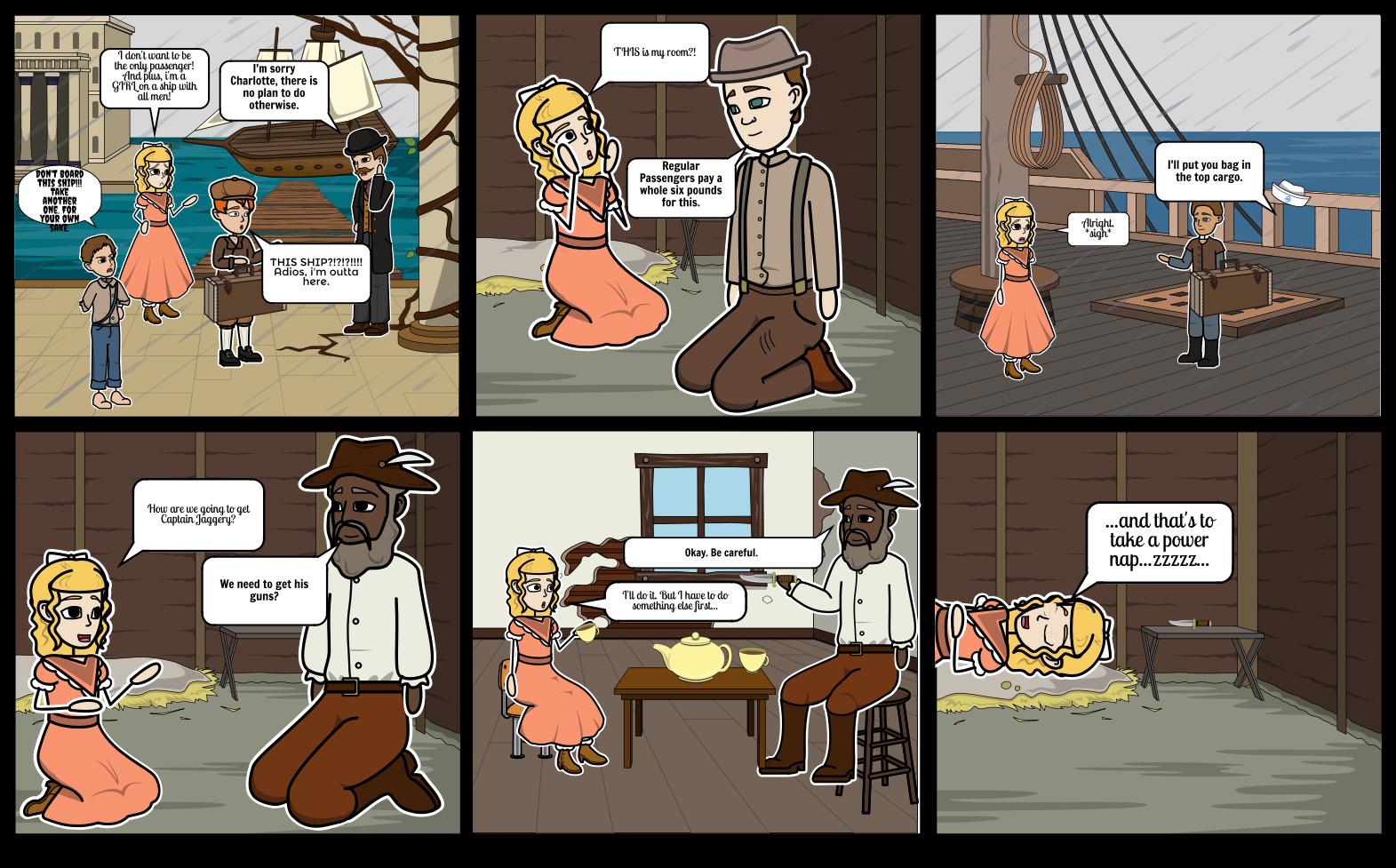 Josh Trot Comic Strip - Charlotte Takes a Nap