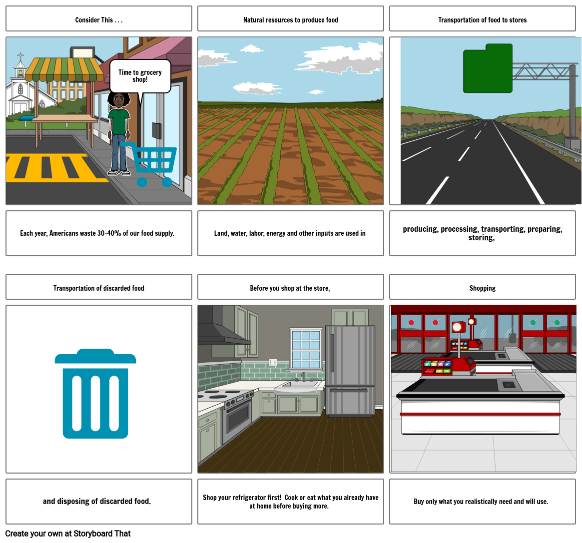 Food Waste Storyboard