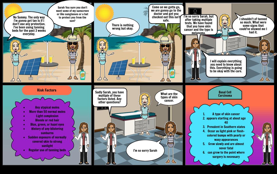 Sun Safety Comic Strip