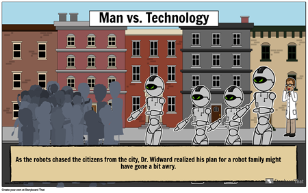 Character vs. Technology Poster