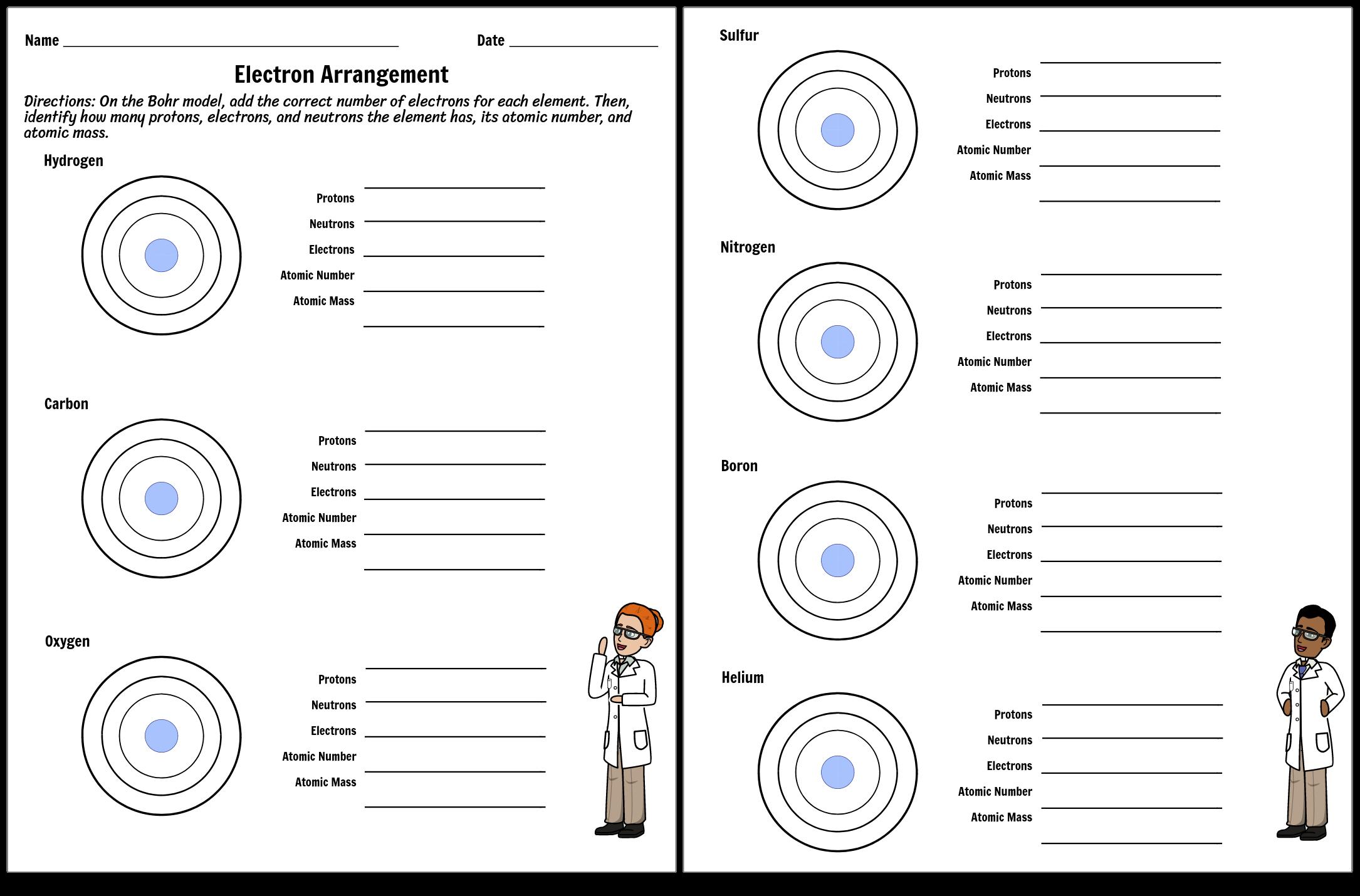 Electron Arrangement Worksheet