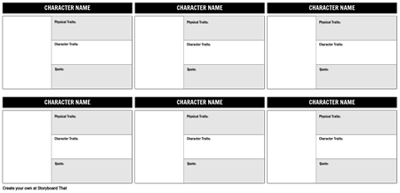 Character Map Template 16x9