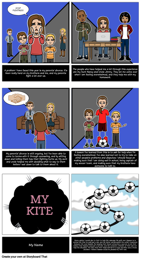 Create Your Own Kite Storyboard Project for The Kite Runner