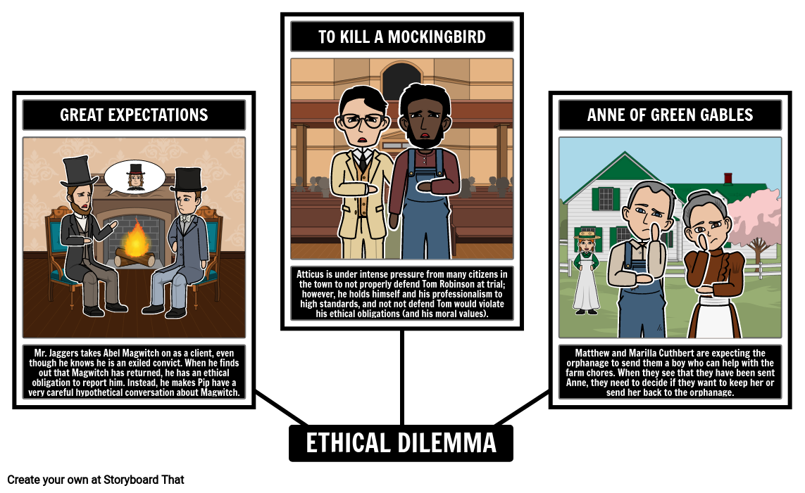Sample Of Storyboards Website: Examples Of Ethical Dilemmas In Literature Storyboard