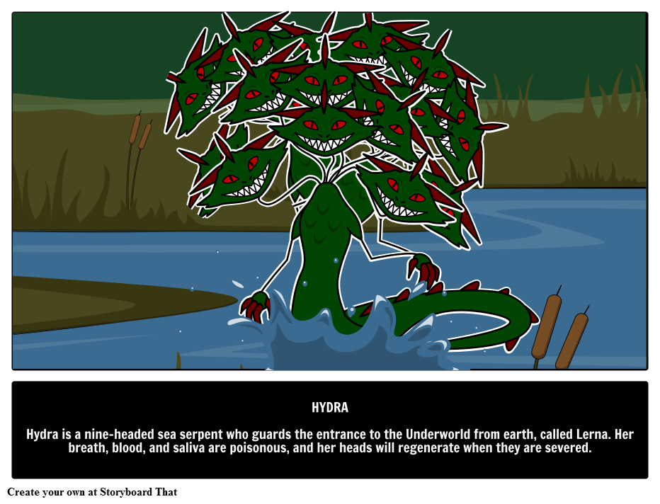 Hydra Mythical Creatures Monsters Greek Mythology