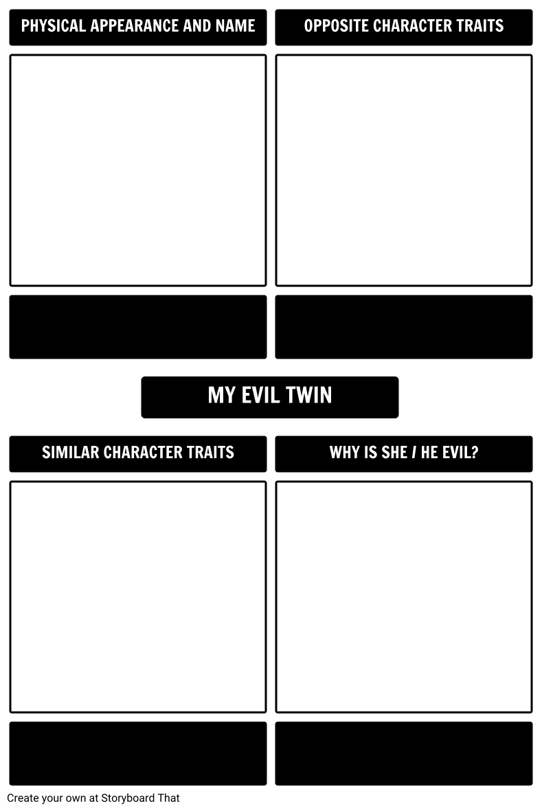 My Evil Twin Doppelganger Activity Template