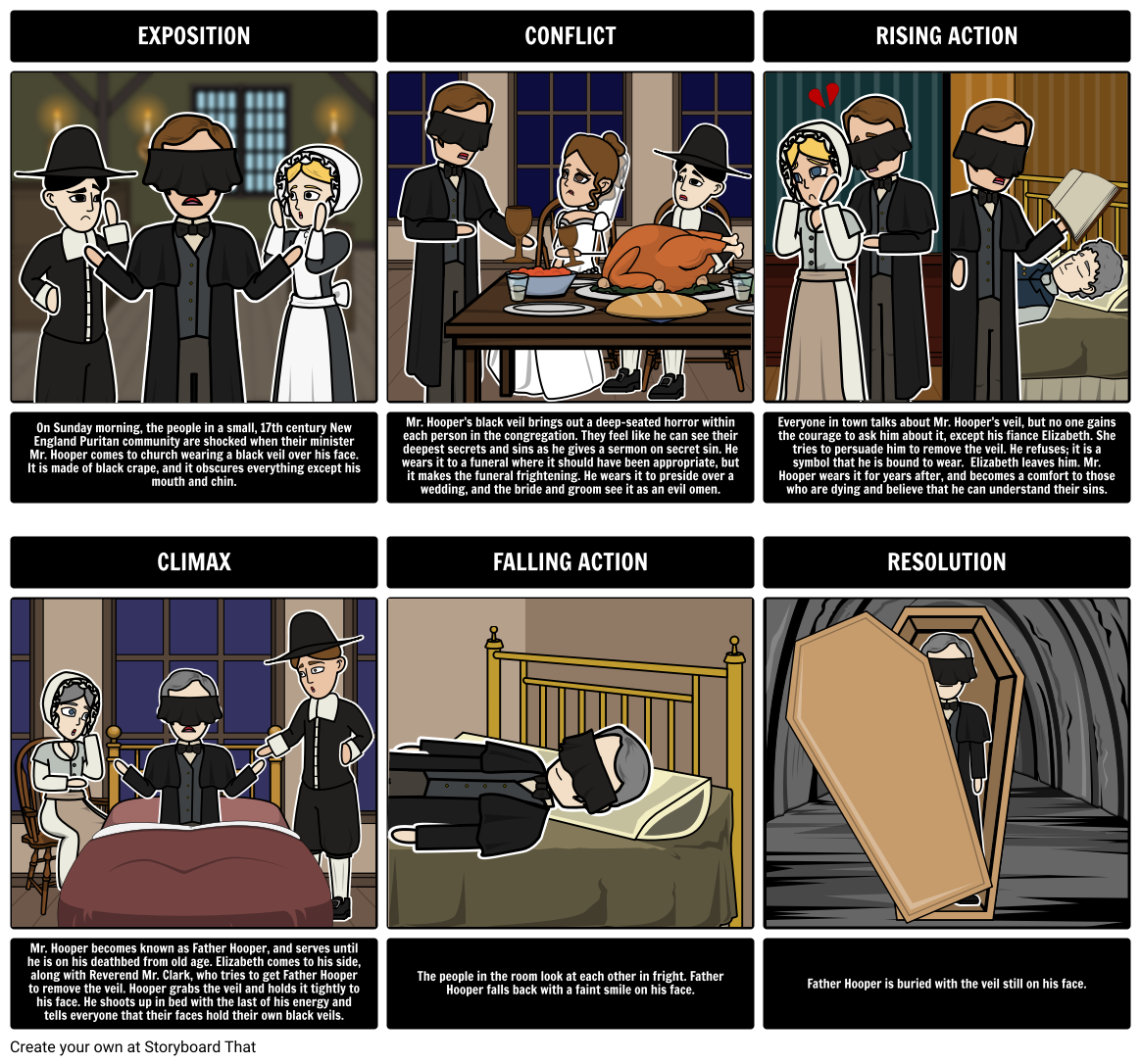 scarlet letter vs ministers black veil A comparison of hawthorne's 'the scarlet letter' and 'the minister's black veil.