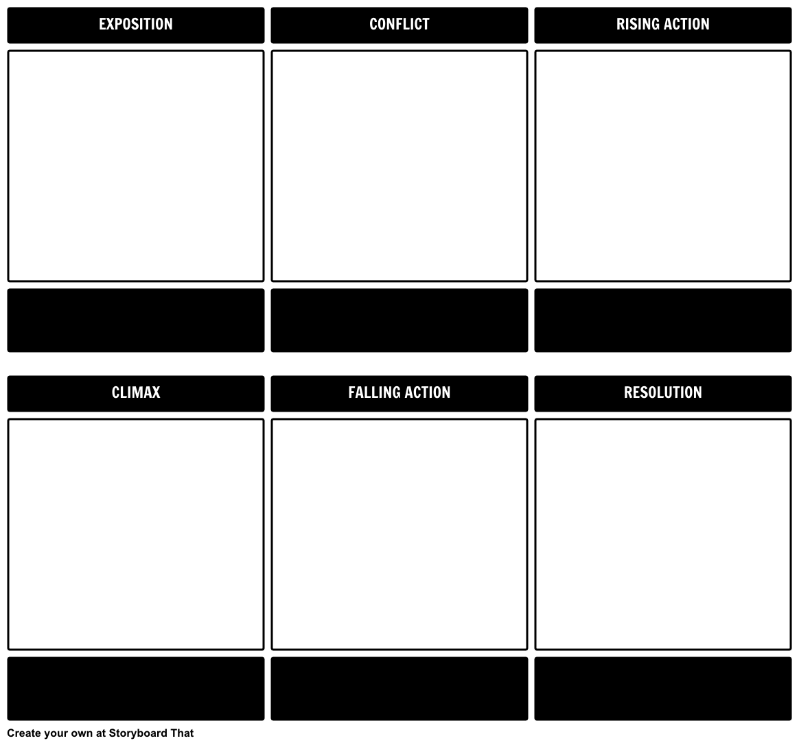 Website Storyboard Examples: Plot Diagram Template Storyboard By Kristy-littlehale