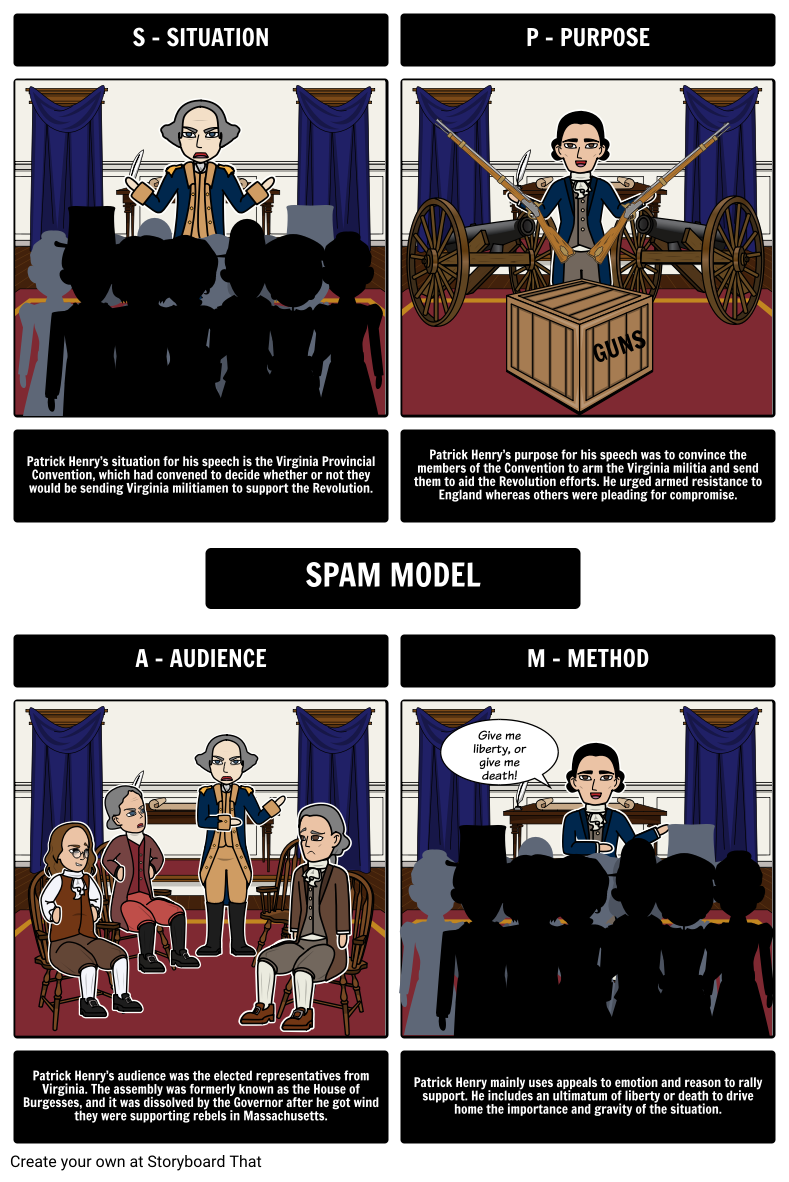 give me liberty or give me death patrick henry speech spam model for speech in the virginia convention