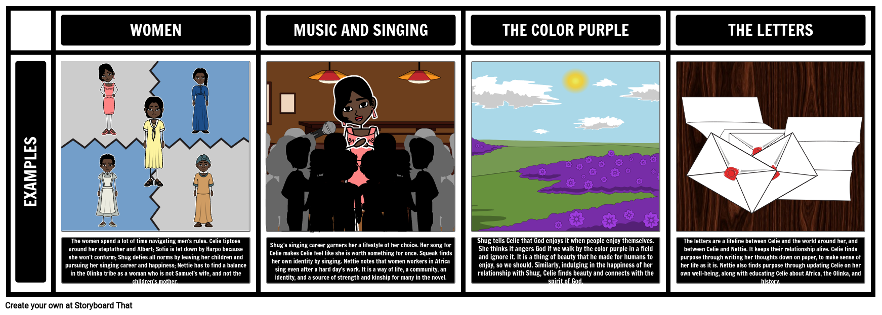 the color purple language analysis