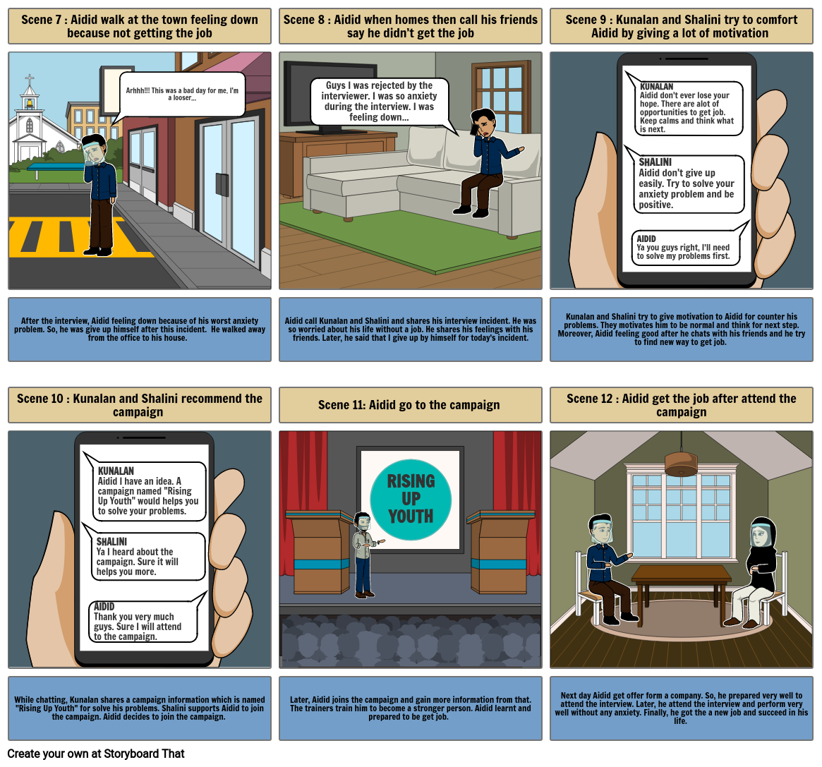 PEC 700 assignment Storyboard