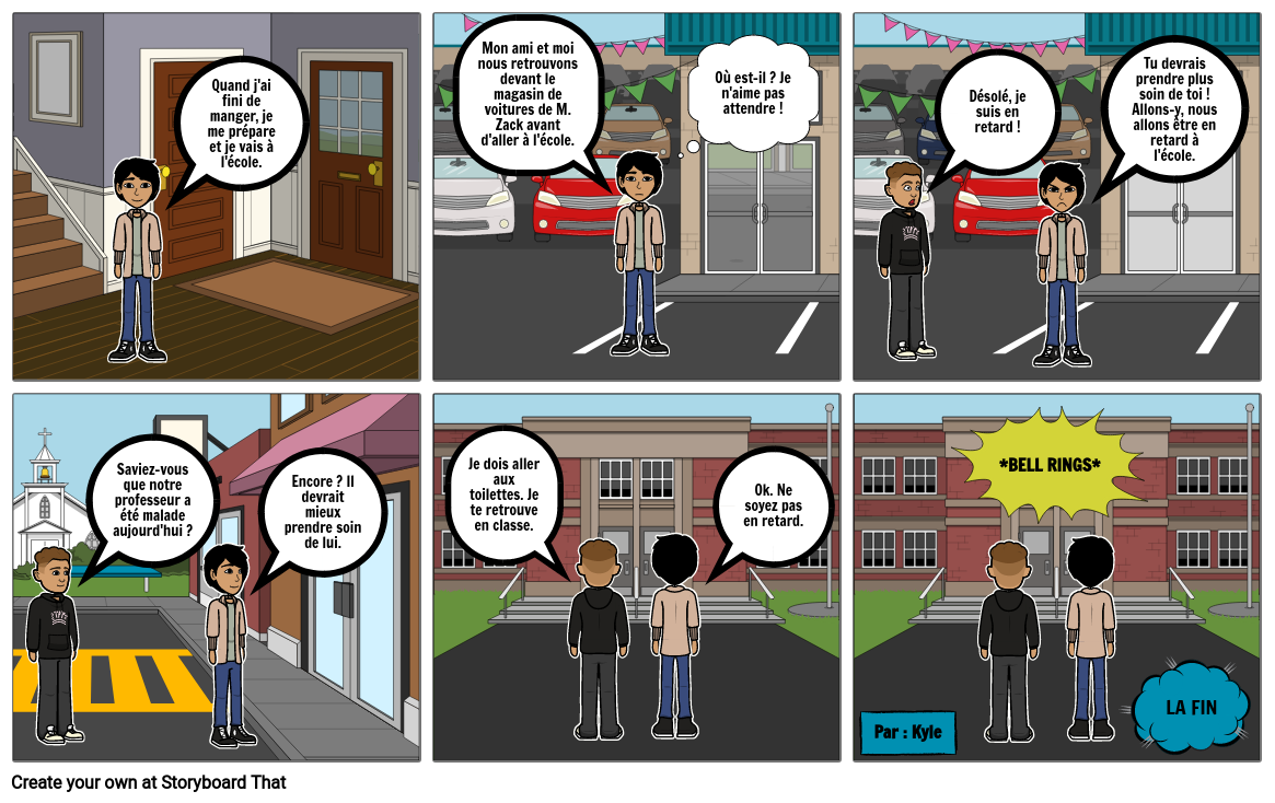 French comic strip assignment 2