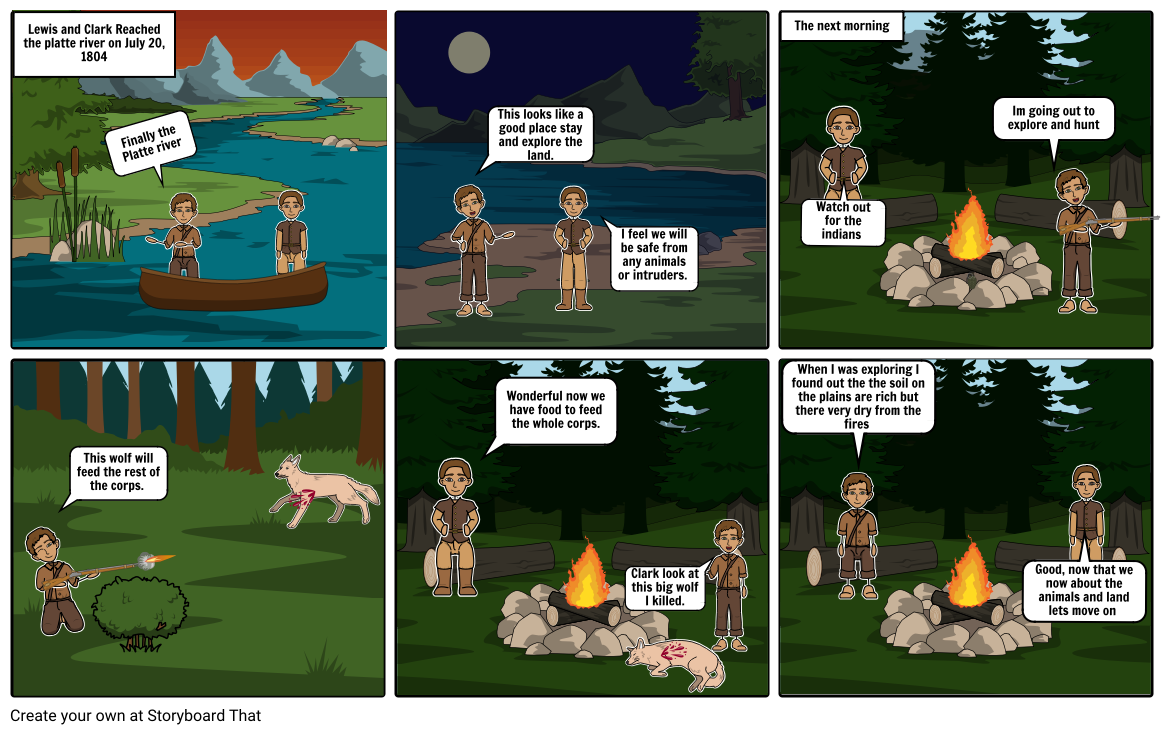 lewis and clark story board 2