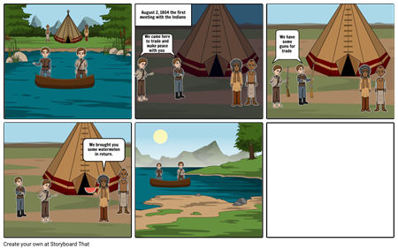 Lewis and clark story board 3