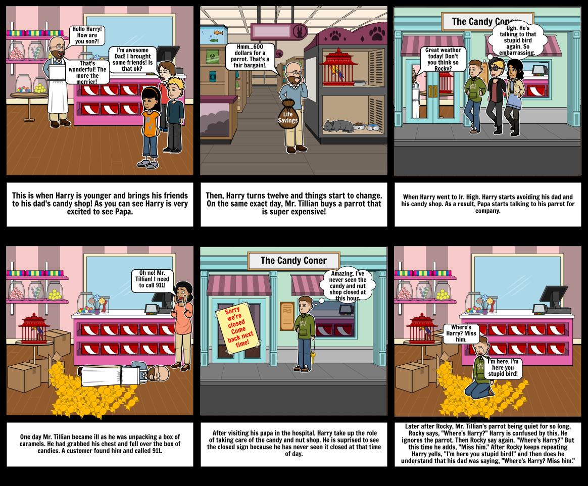 Papa's Parrot Comic Strip