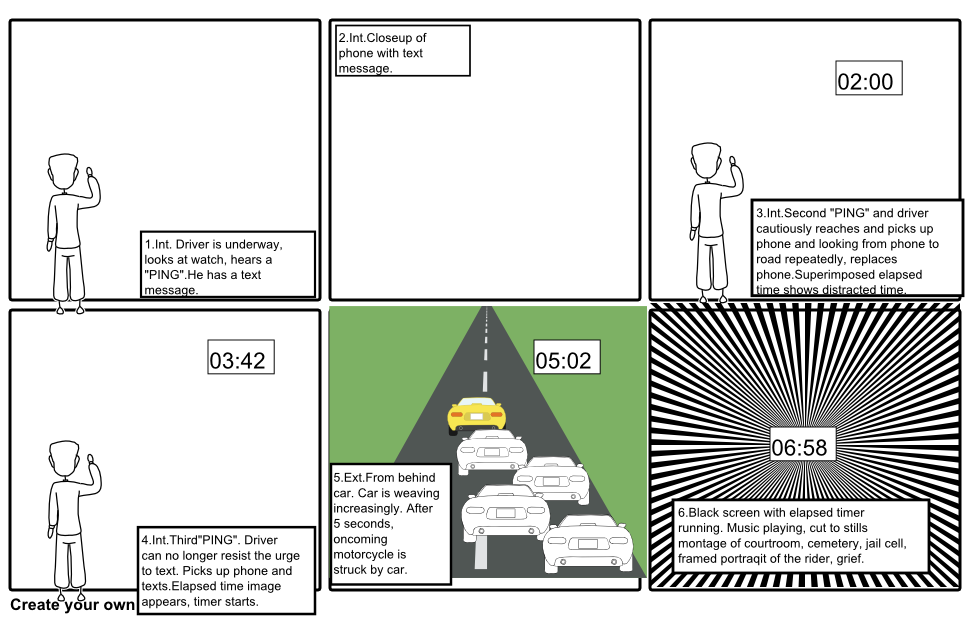 Video Segment 3.  Distracted Driving Sequence