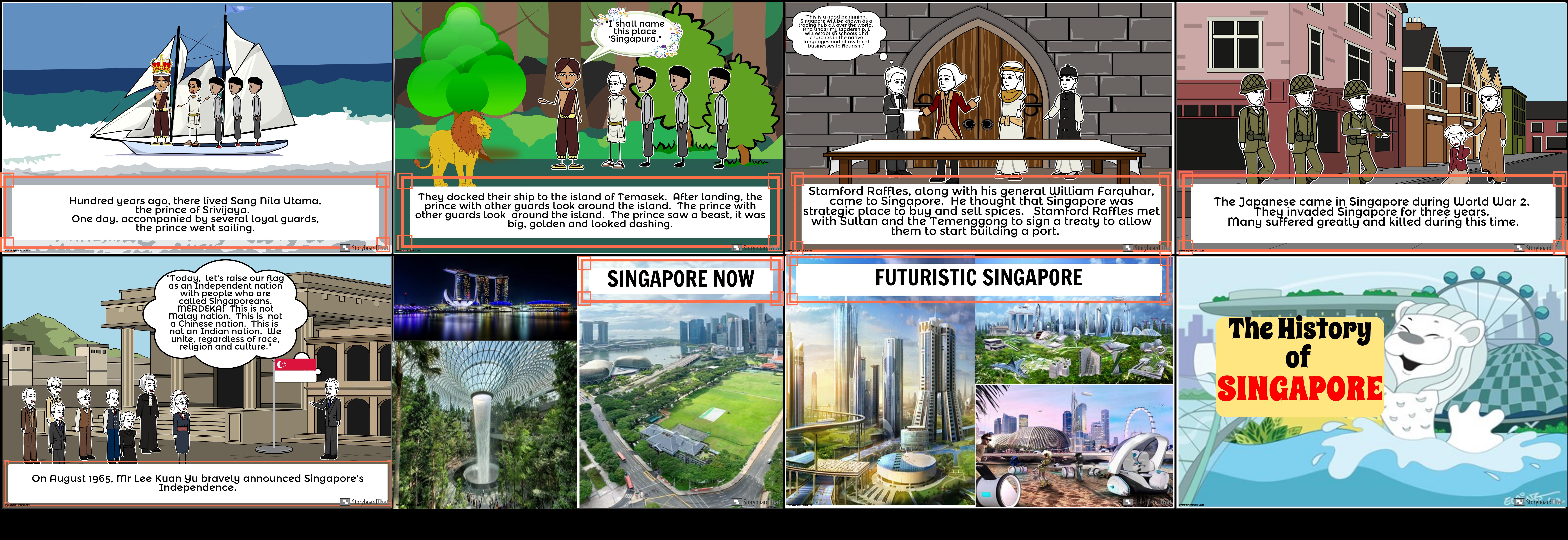 History of Singapore Storyboard par leahcasilang