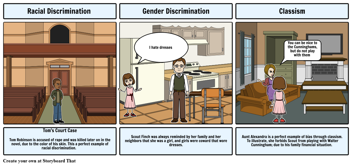 Discrimination Storyboard By Leantha