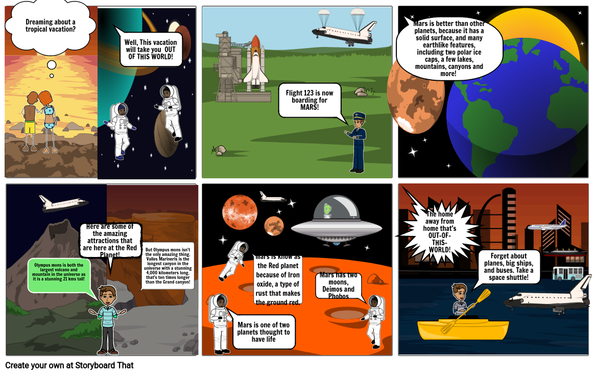 Planet commercial storyboard