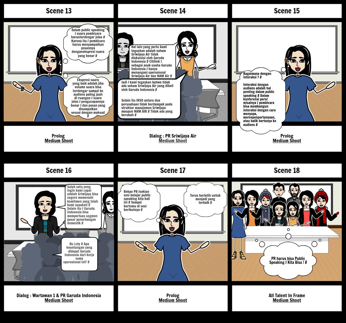 Story Board Public Speaking 1