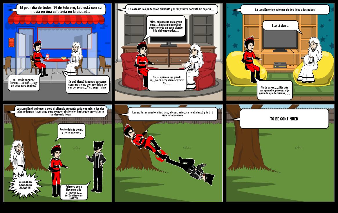 14 de Febrero Storyboardthat