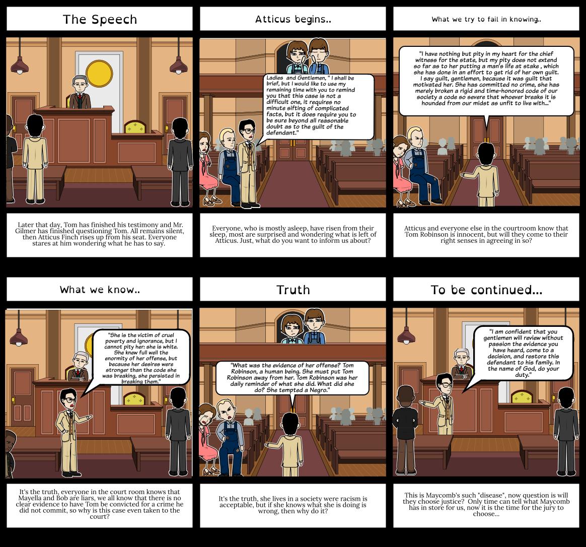 TKAM, Chapter 20: Atticus's speech