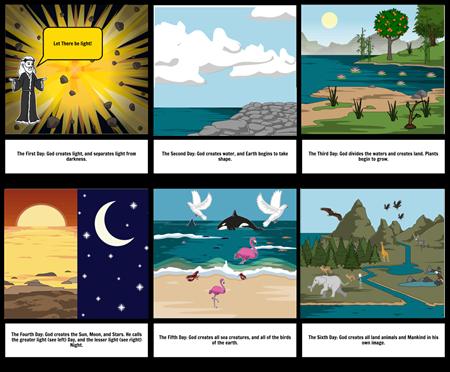 Genesis 1 storyboard