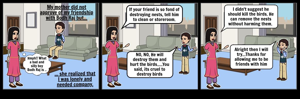 Conversation between mother and narrator
