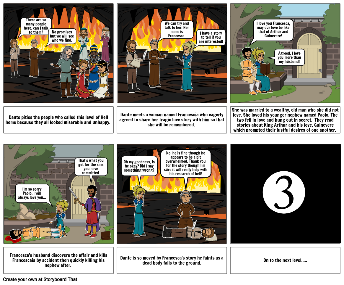 Canto 5 Storyboard Part 2