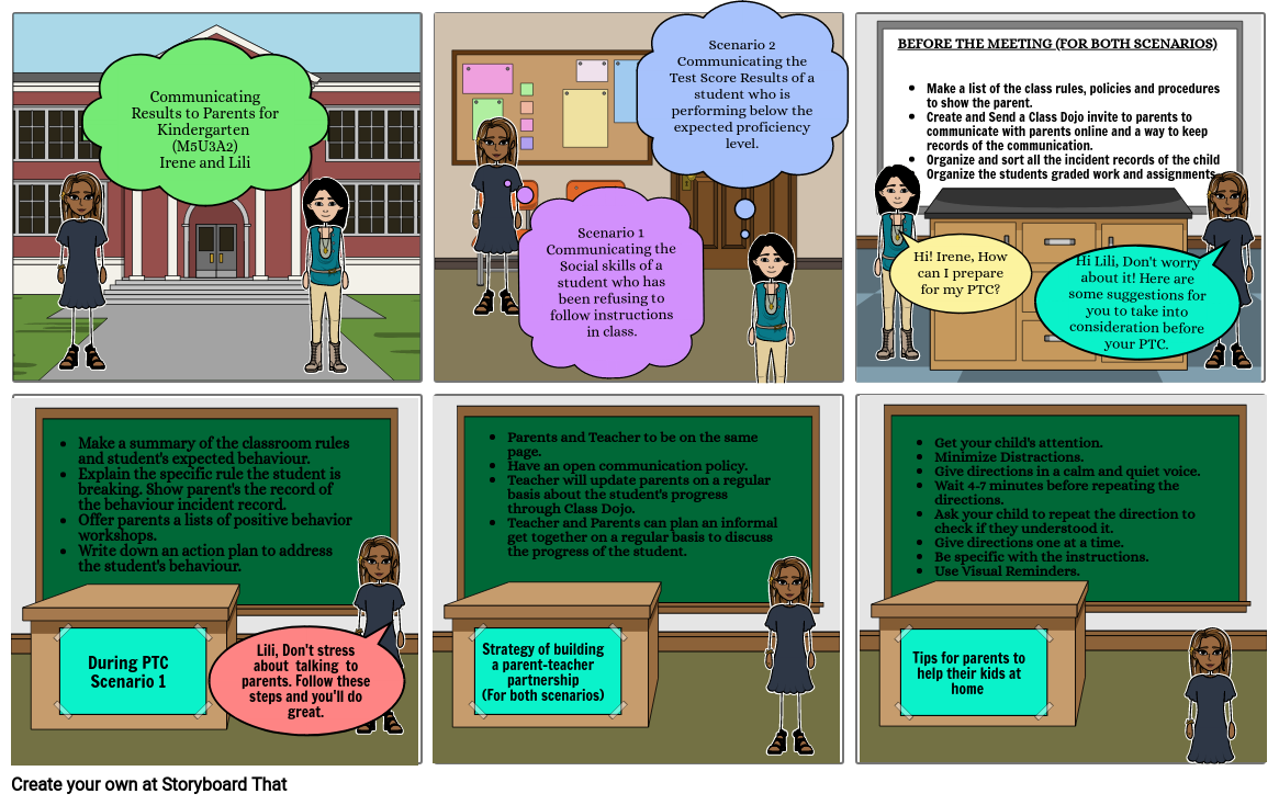 M5U3A2 Communicating Misbehaviours to Parents for Kindergarten (Irene and L