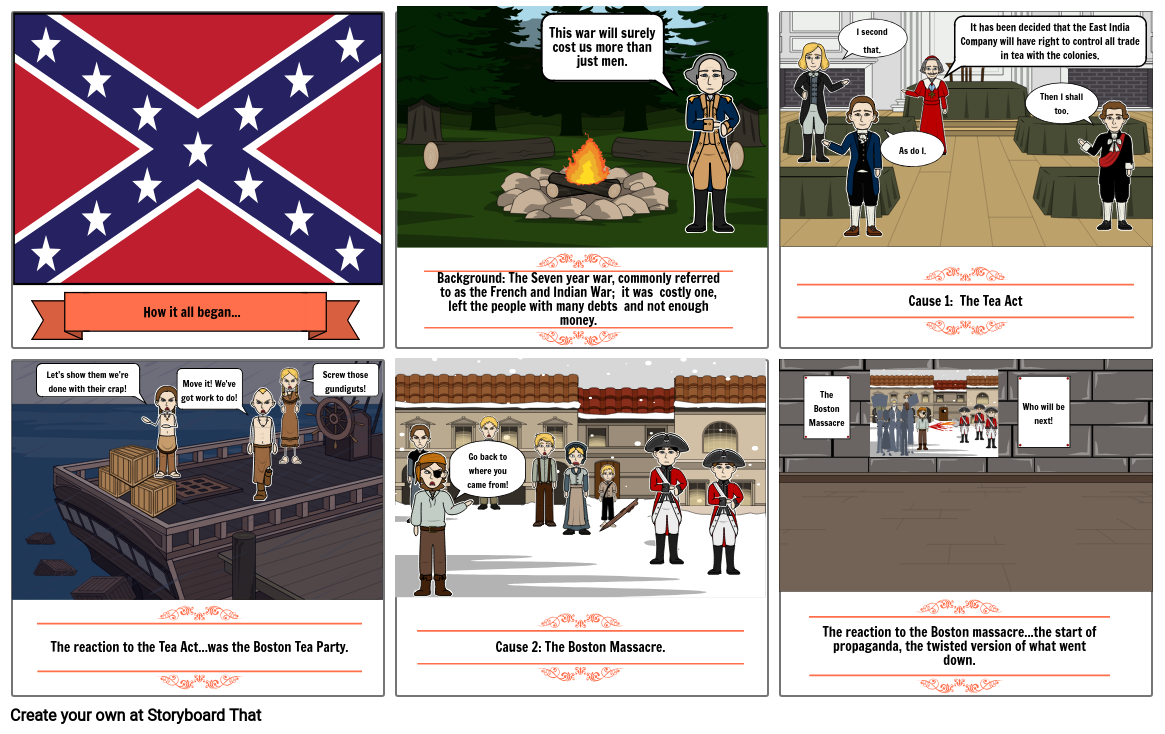 Revolutionary War comic strip