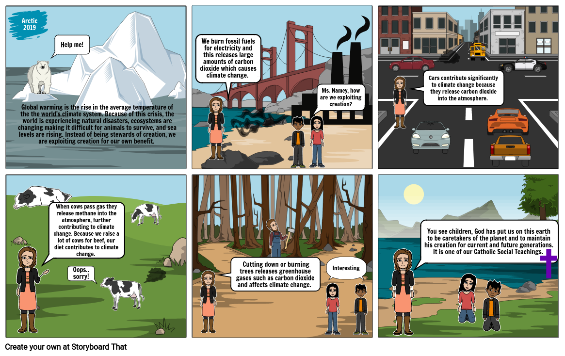 Social Justice Teachings Comic Exemplar - Stewardship of Creation