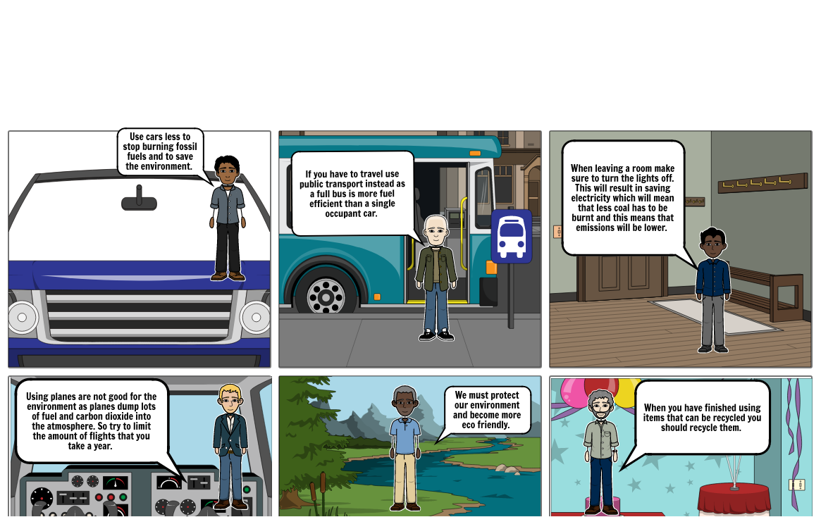 ICT protecting the environment storyboard