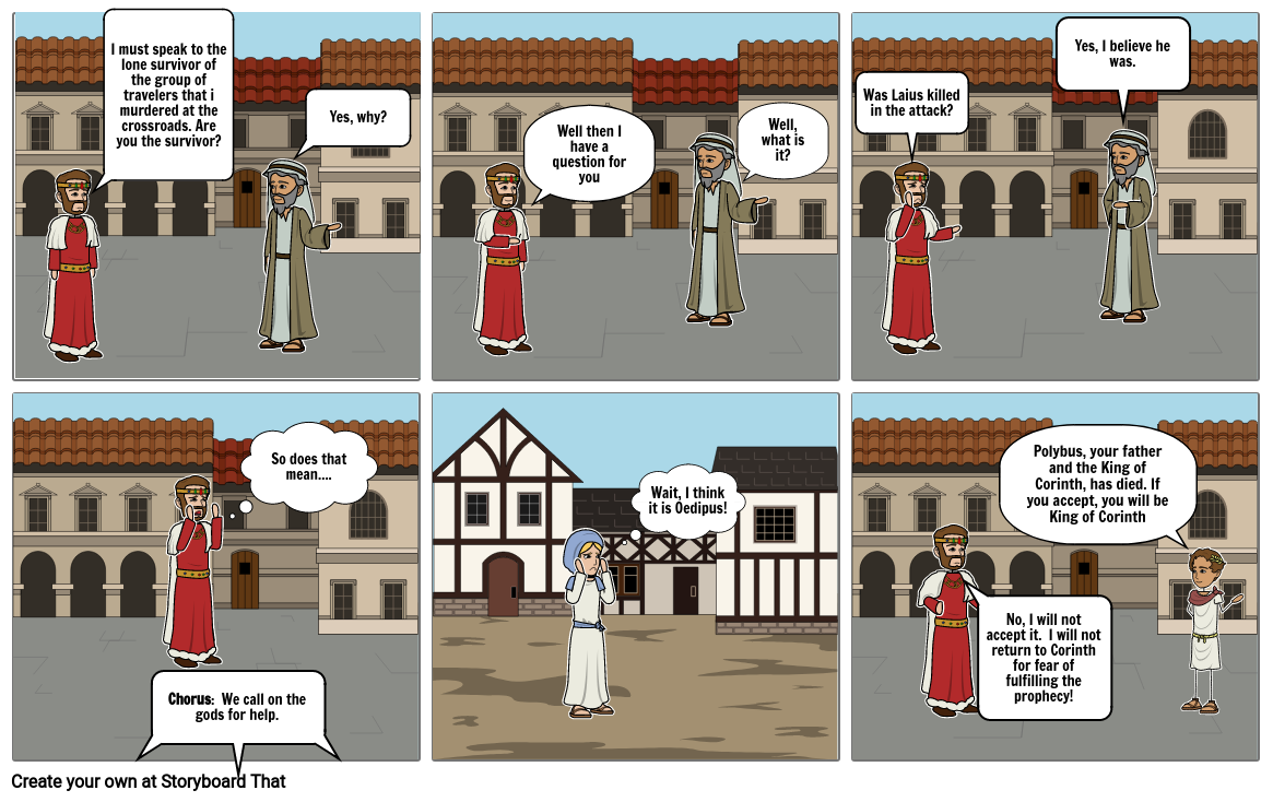 Oedipus Rex Comic Strip Project Pt. 3