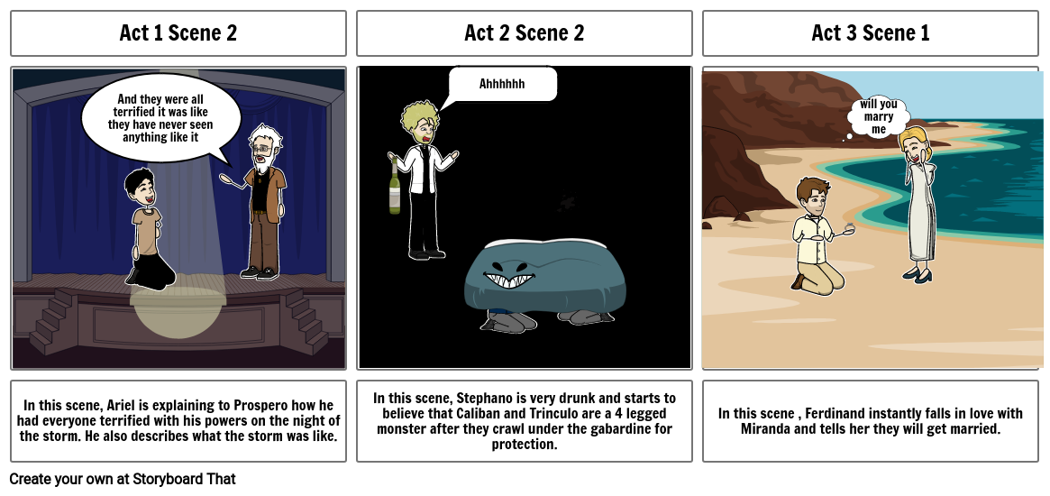 the tempest storyboard