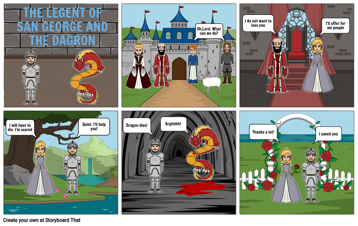 THE LEGEND OF SAN GEORGE AND THE DRAGON