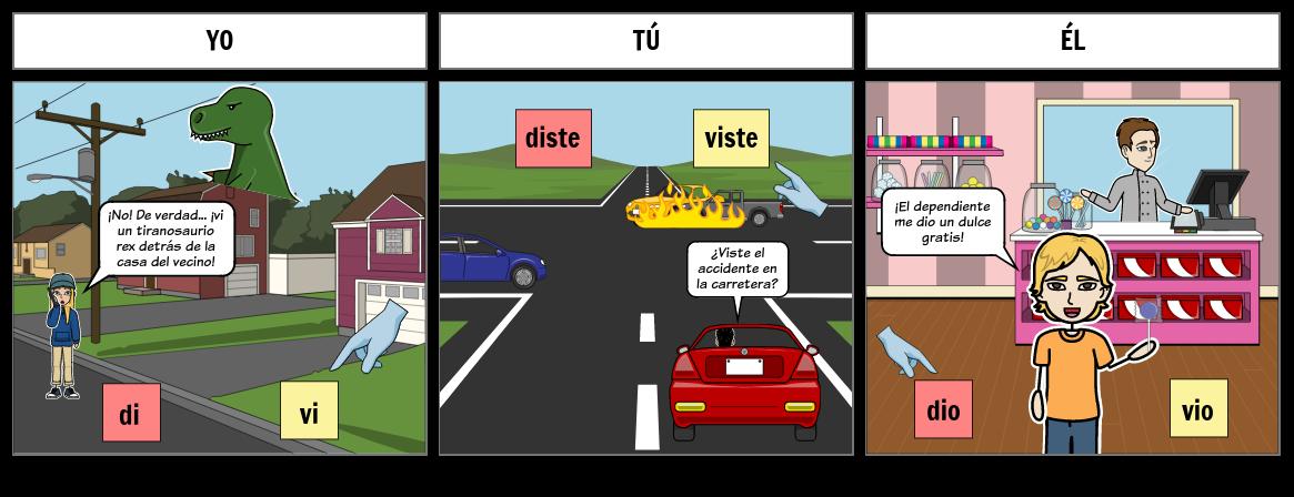 Spanish Preterite: Dar & Ver