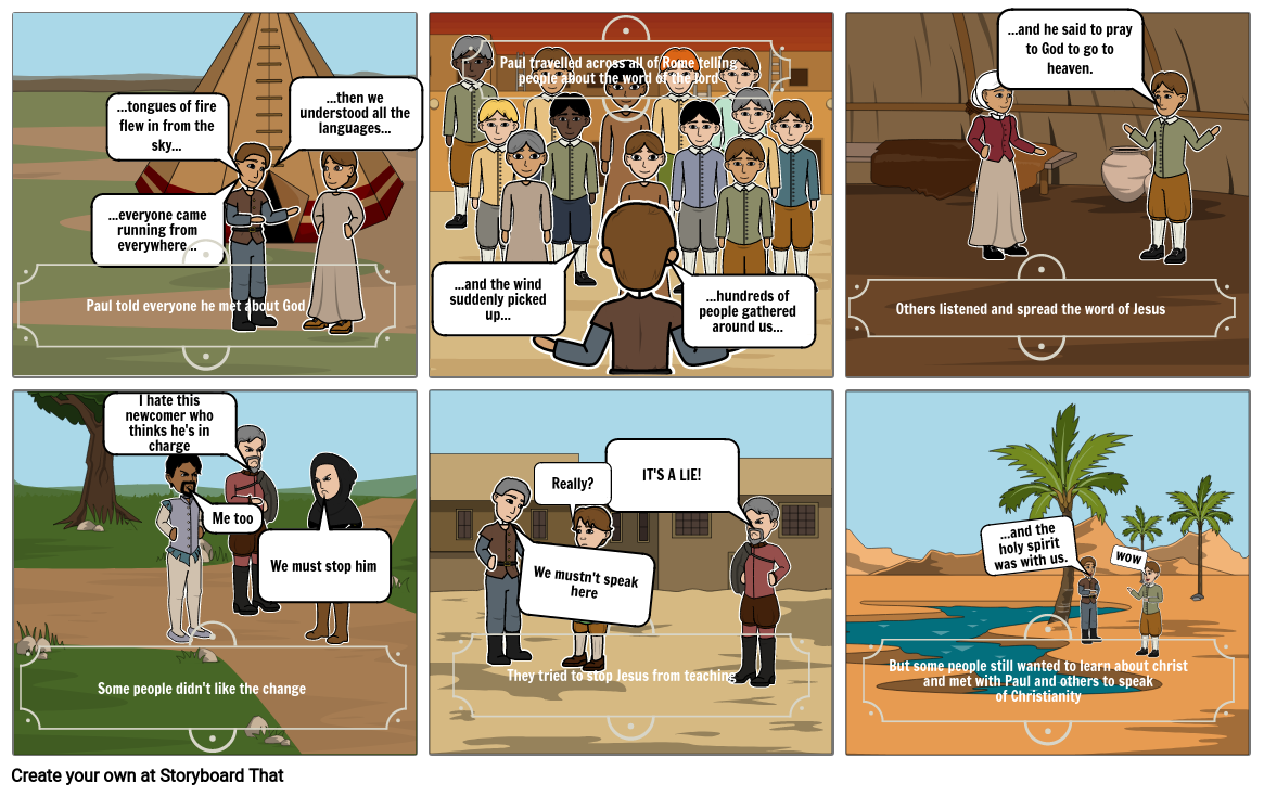 religion assesment storyboard