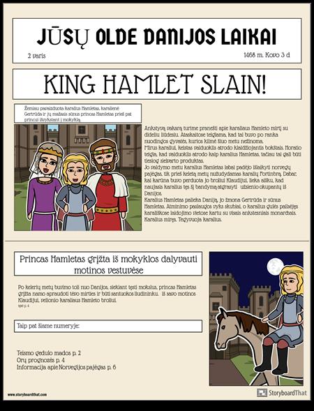 """""""Hamlet"""" Laikraščio Skelbimas"""