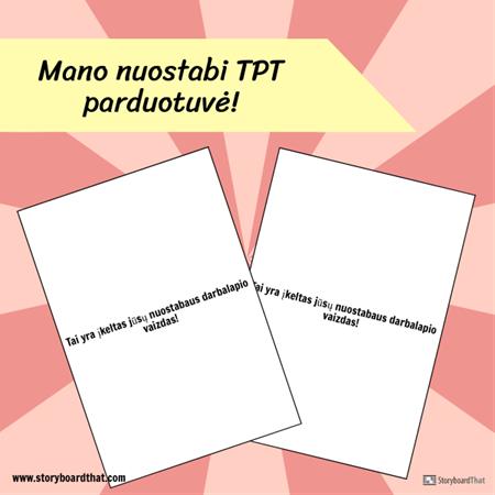"""Instagram TPT"" Šablonas"