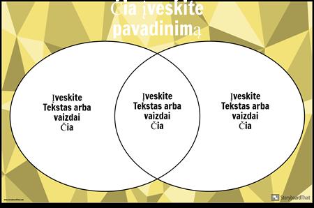 """Venn"" 2 Diagramos Apskritimai"