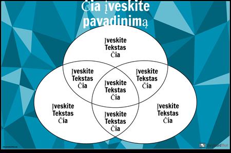 """""""Venn"""" Diagrama 3 Apskritimai"""