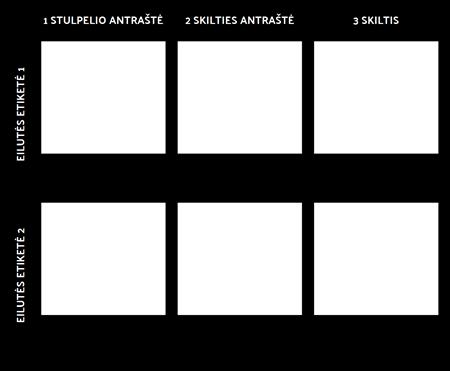 2x3 Diagramos Šablonas