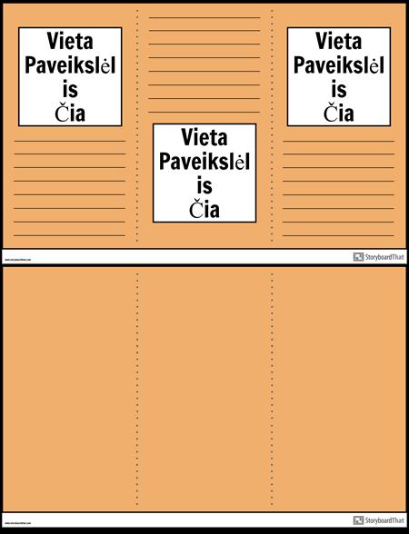 3 Brošiūros Plakatas