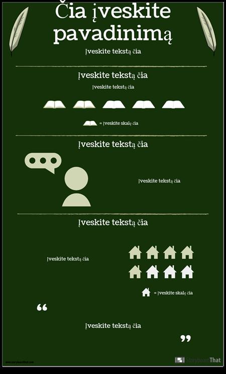 """Autorius / Romanas """"Infographic"""""""