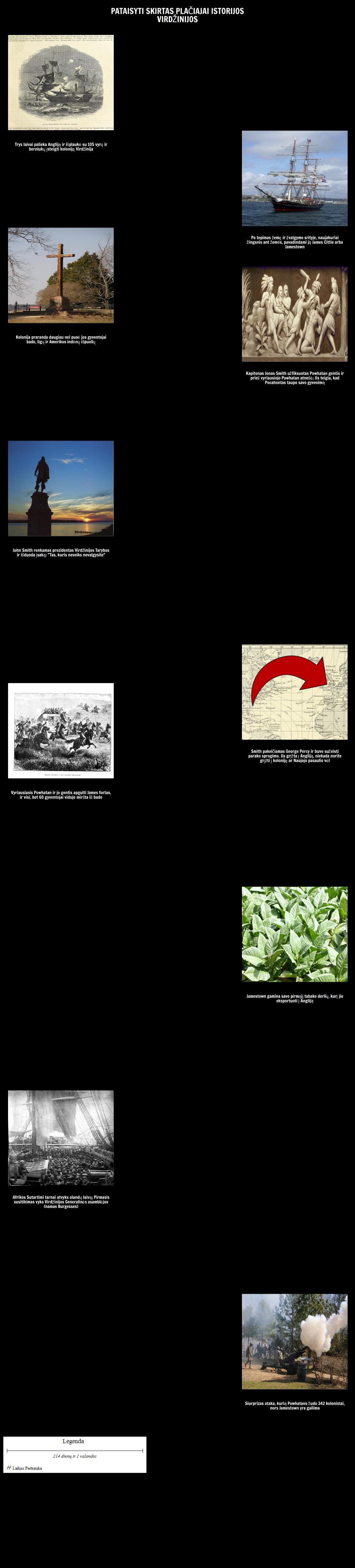 Chronologija Bendrojo Istorijos Virdžinijos