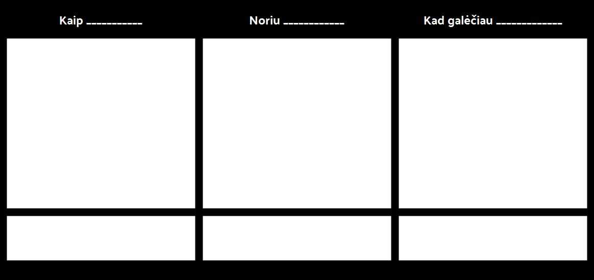 """Epic """"User Story"""" Šablonas"""
